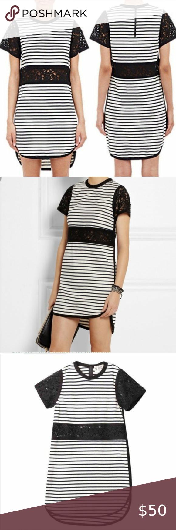 Sea Ny Breton Striped Cute Lace Cutout Knit Dress In 2020 Knit Dress Lace Cutout Striped Knit Dress [ 1740 x 580 Pixel ]