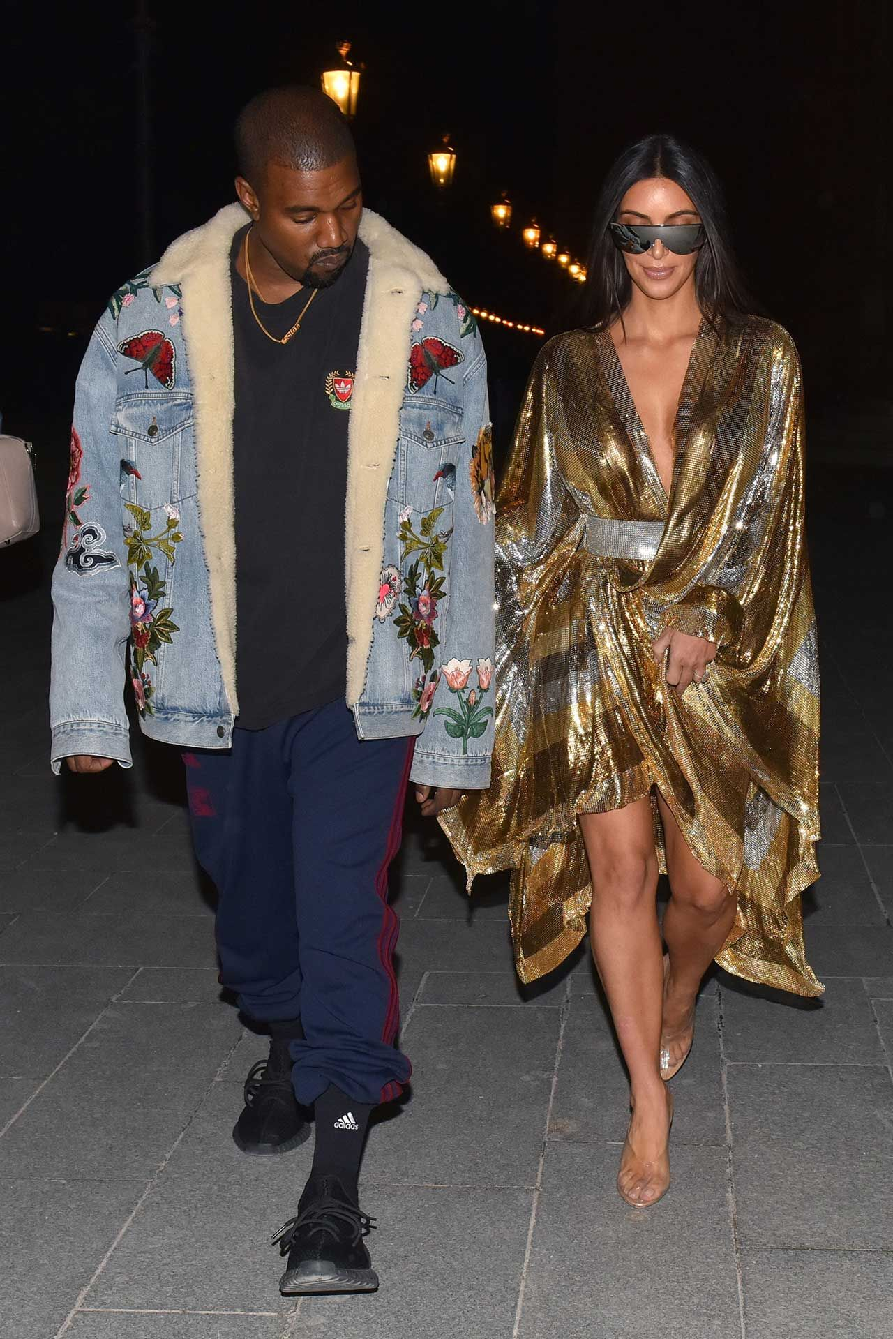 Kanye West Wears A Gucci Embroidered Denim Jacket Kanye West Outfits Kanye West Style Embroidered Denim