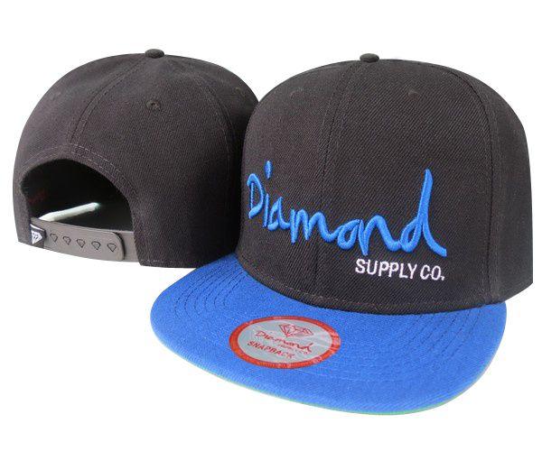 499ac9bc072 Diamond Supply Co. Snapback Black Royal Blue