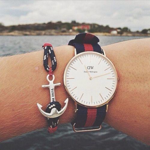 Connu Bracelet Tom Hope et montre daniel wellington | Beautiful  EM54
