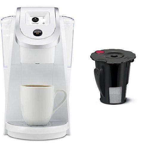 keurig k250 2.0 brewing system, white and keurig 119367 2.0 my k-cup ...