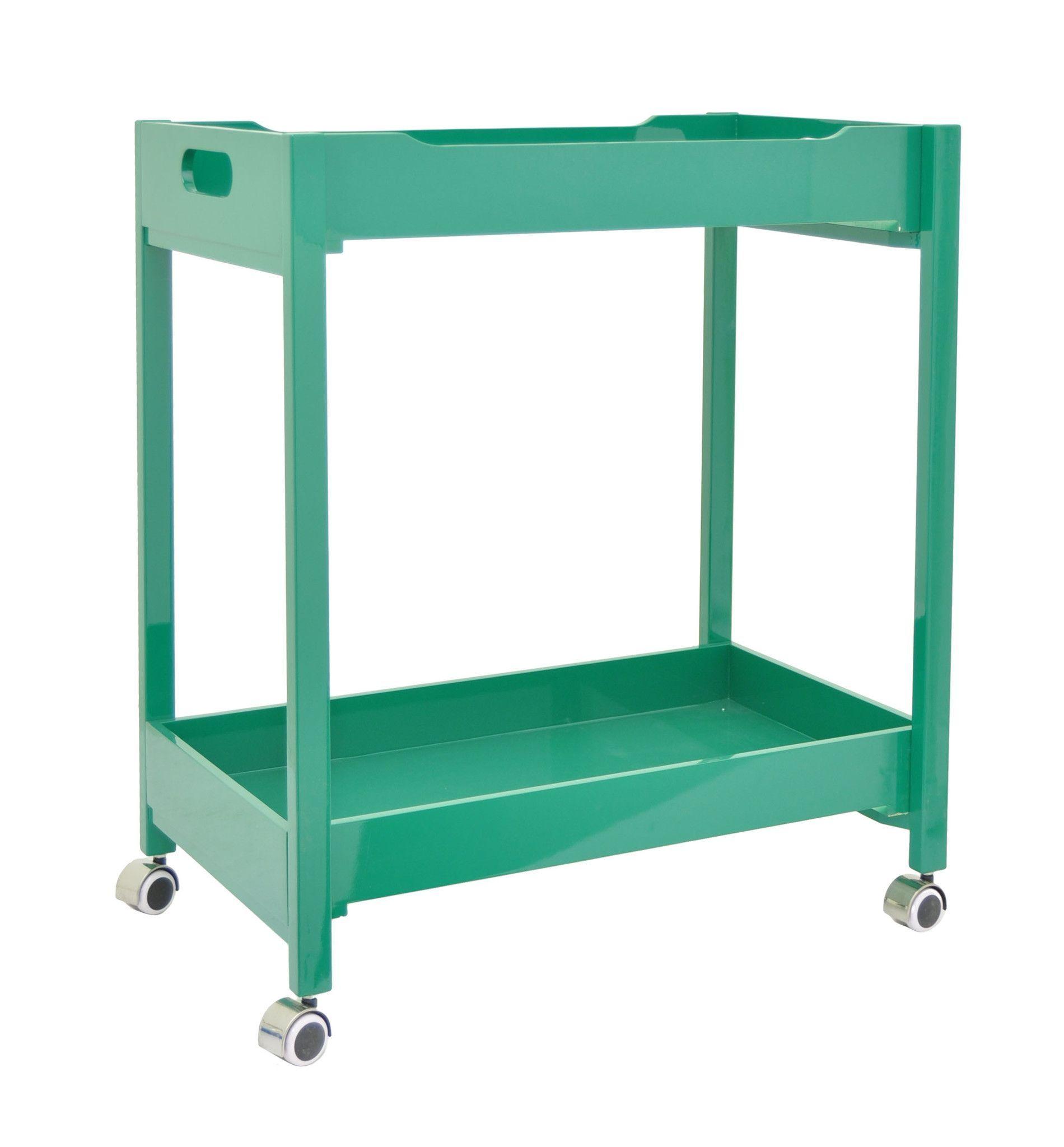 Modish Wood Bar Cart ? Green