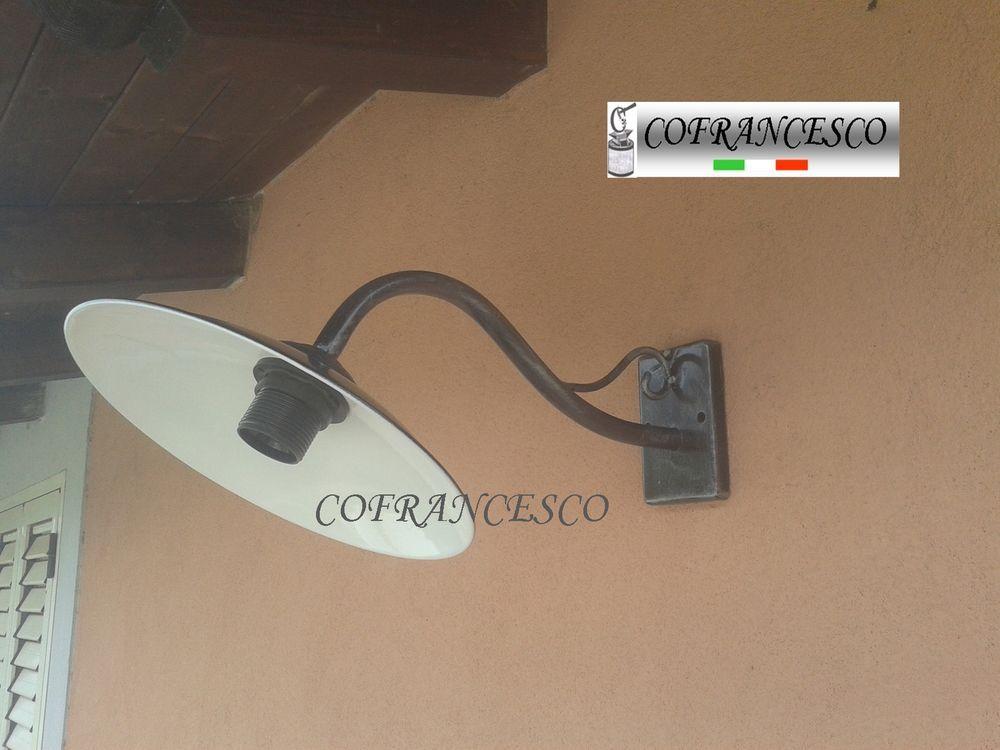 Lampada applique a parete per esterno in ferro battuto 1198 con
