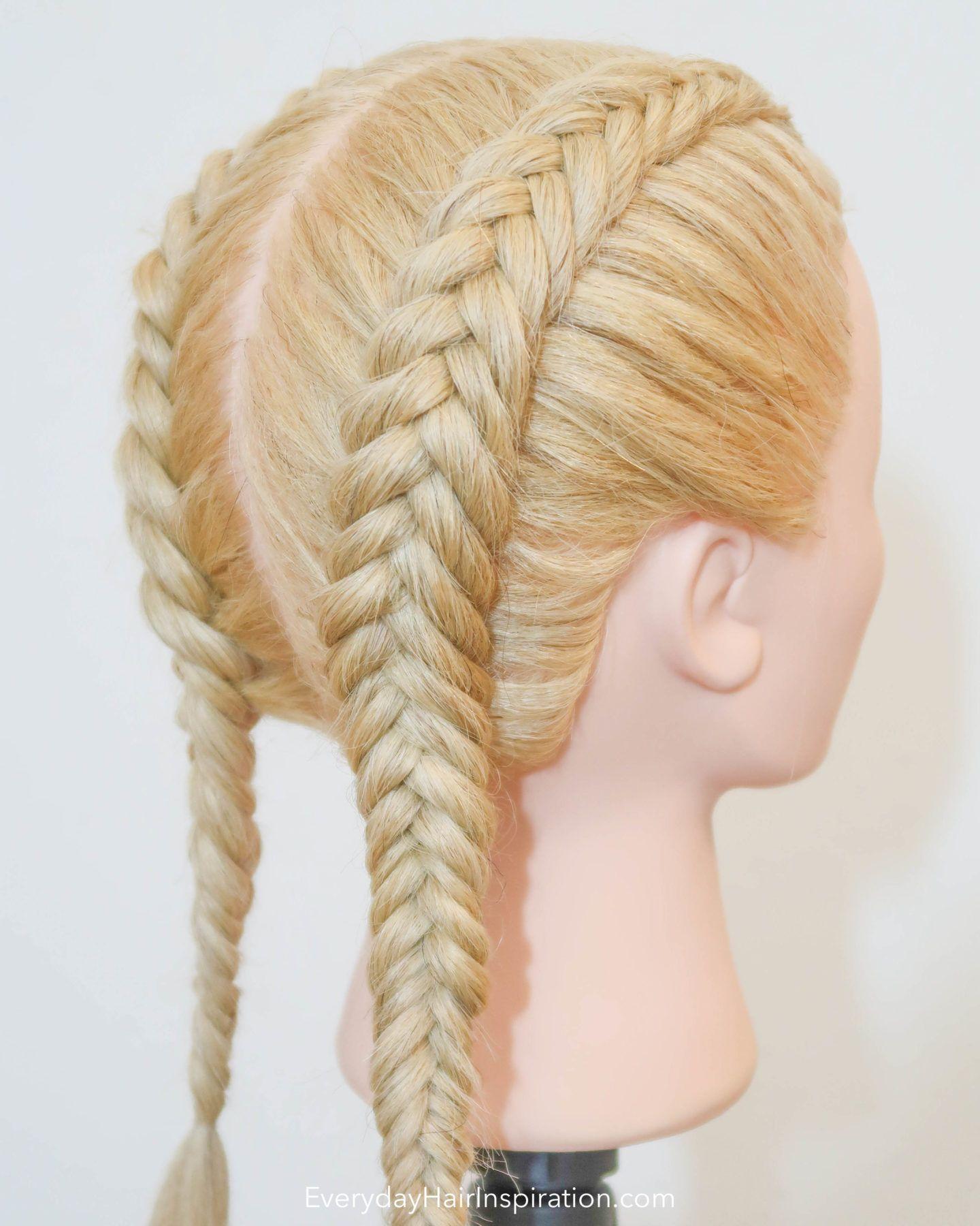 How To Dutch Fishtail Braid For Beginners Everyday Hair Inspiration In 2020 Dutch Fishtail Braid Fish Tail Braid Long Hair Wedding Styles