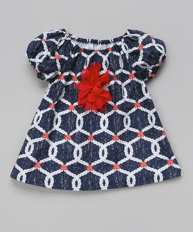 Love this Navy Nautical Rope Peasant Top - Toddler & Girls on #zulily! #zulilyfinds