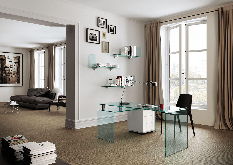 RIALTO ISOLA desk by @Fiam Italia designed by CRS Fiam Italia ...