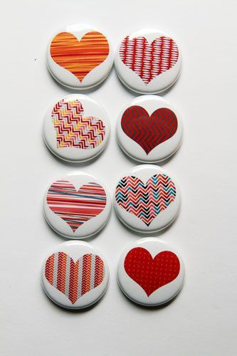 Just Hearts White Flair por aflairforbuttons en Etsy: