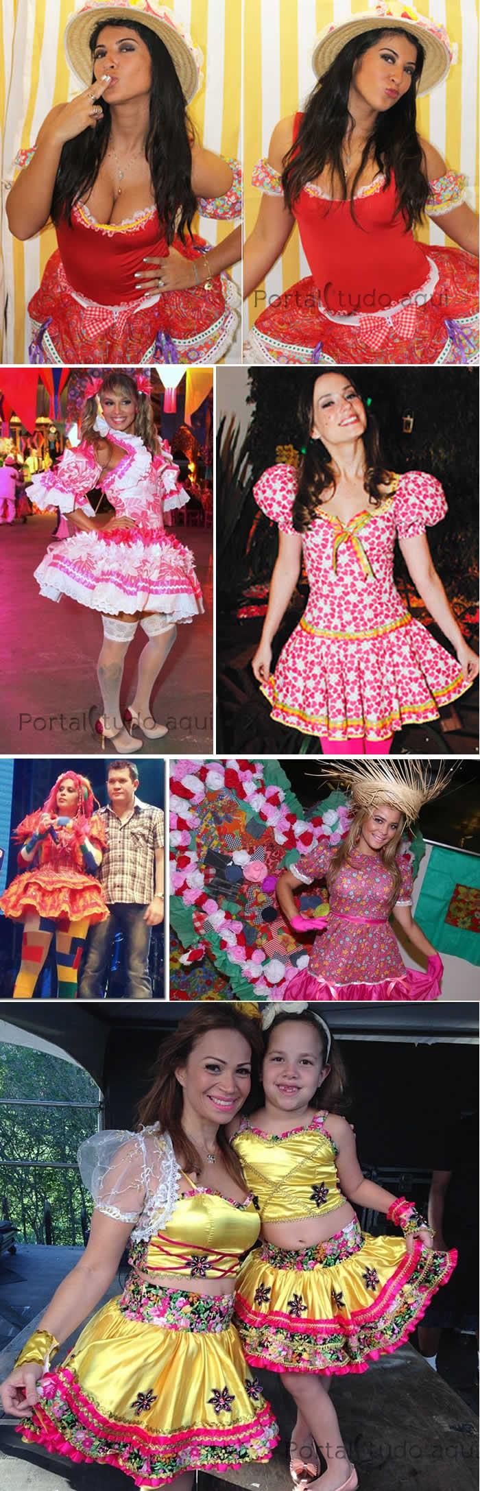 de3eebb41 Veja nesta matéria dicas de fotos com ideias de trajes para festa junina  inspiradas nas roupas caipira das famosas