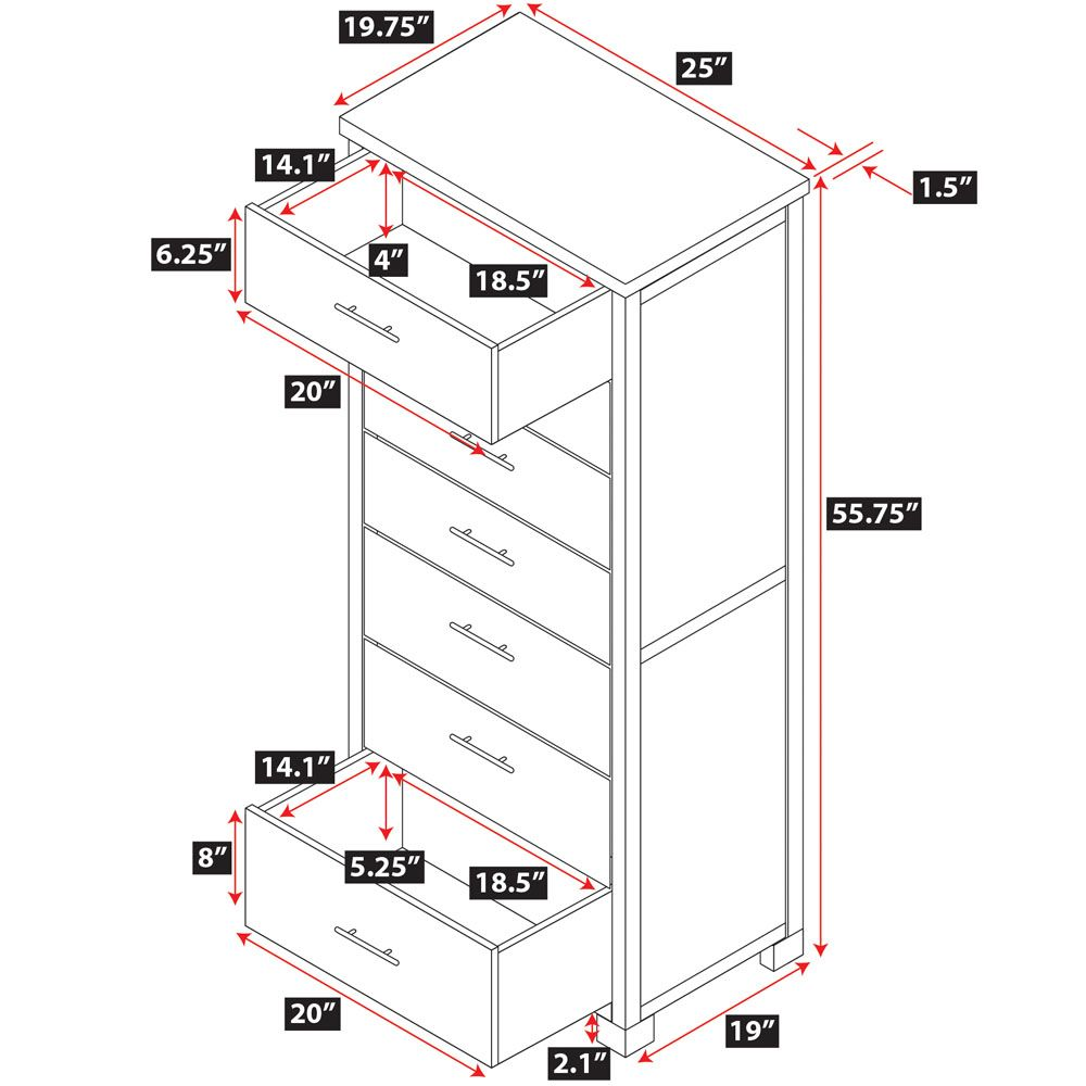 Dresser Dimensions dresser drawer dimensions 11 5 drawer dresser | furniture