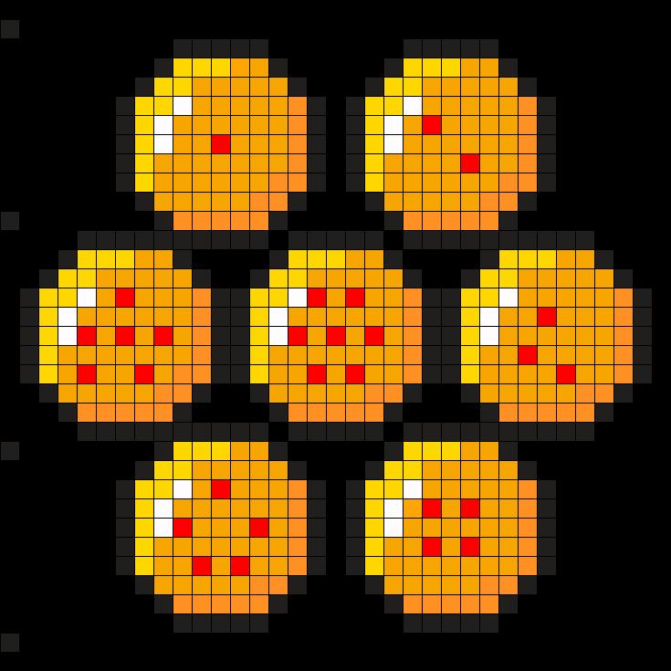 Dragon Ball Z Balls Perler Bead Pattern Pixel Templates Perler