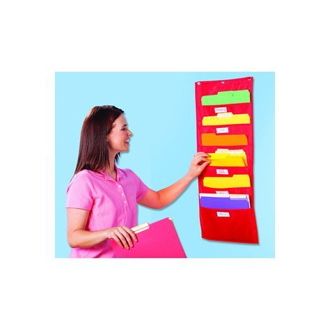 This handy hangable organizer helps bring order to any classroom. Small vertical chart is perfect for organizing books, activity sheets, corrected homework and school-home communications. All charts f