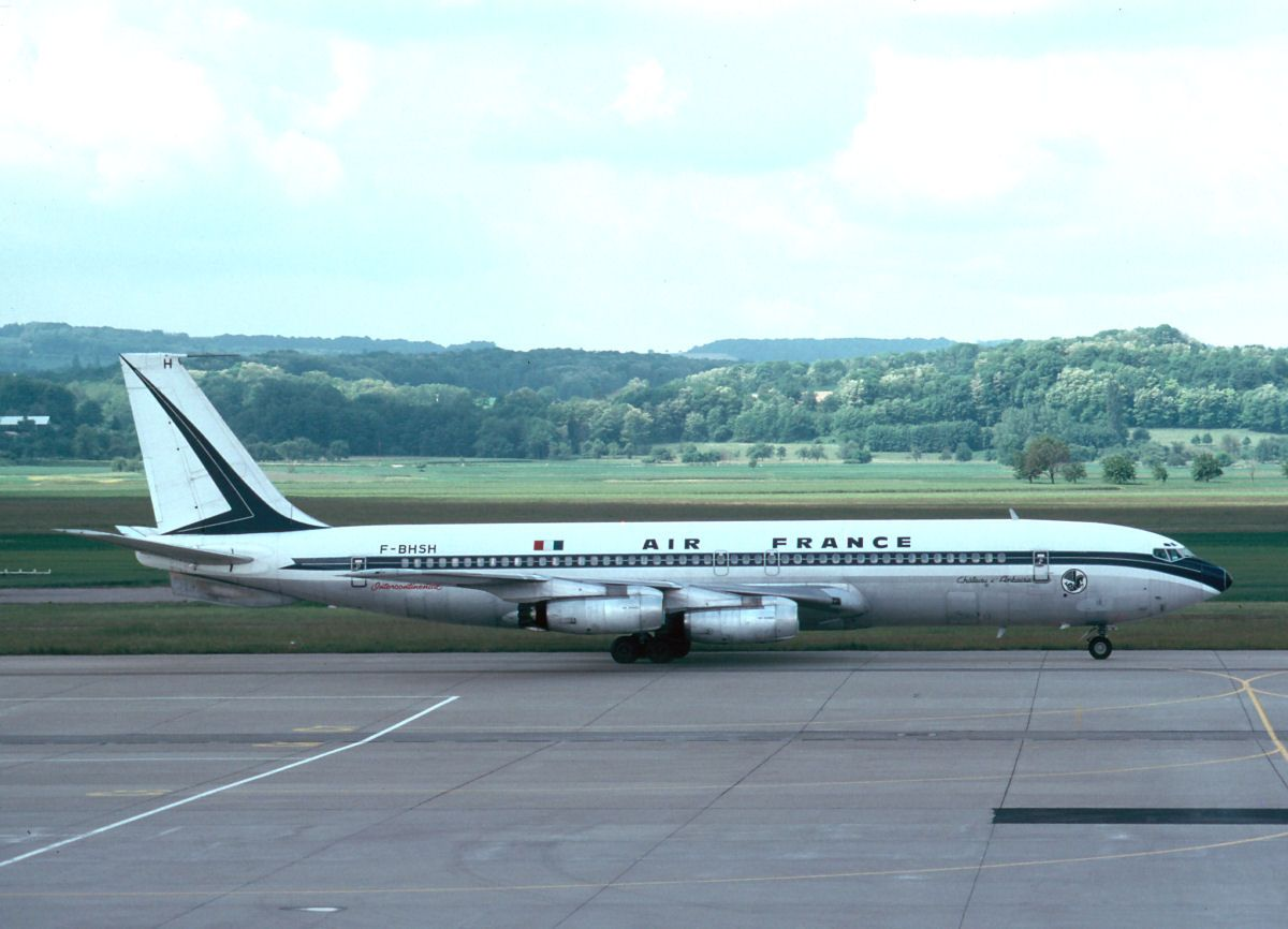 Air France Boeing 707328 FBHSH BSL 1975 in 2020