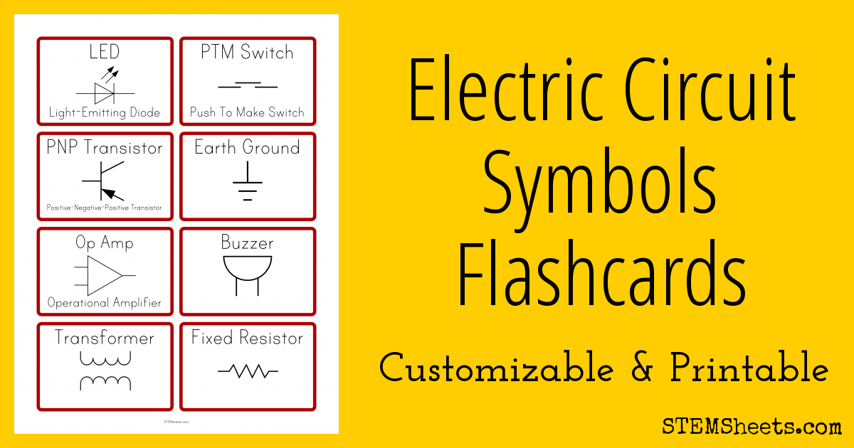 Quickly Create Printable Electrical Circuit Symbol Flash Cards That