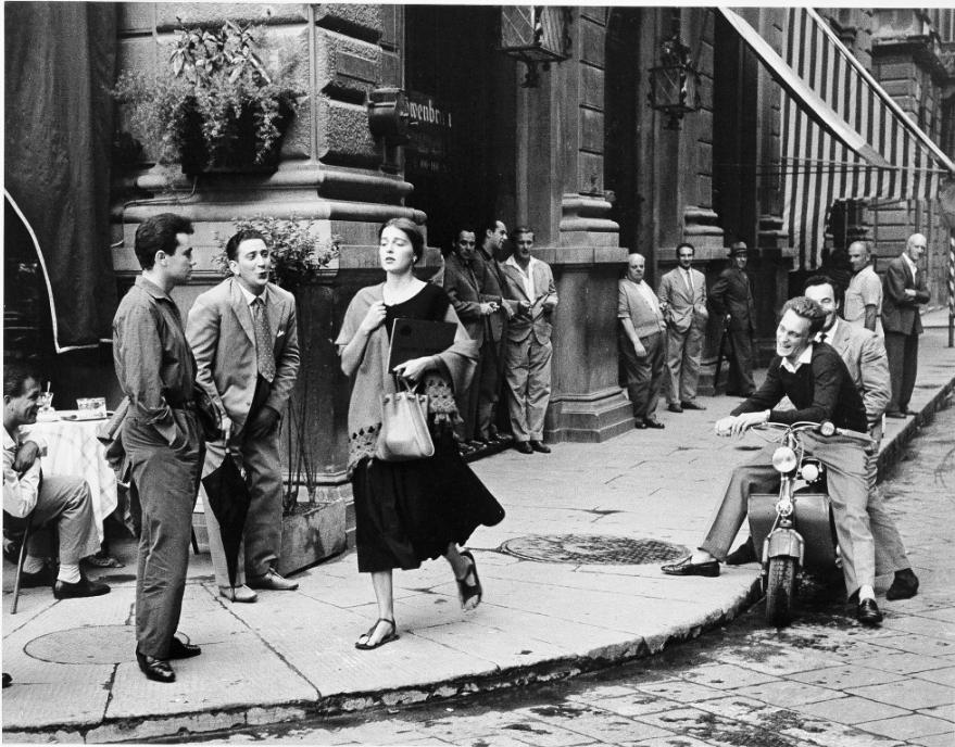 """""""American Girl in Italy,"""" Ruth Orkin (American, 1921–1985), 1951, Gelatin silver print"""