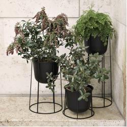 Photo of Wire Pot Blumentopf 60 weiss Menu As