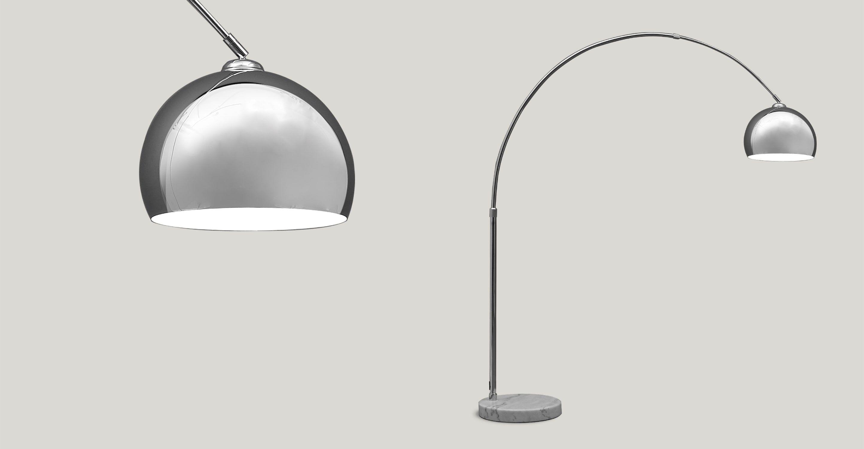 Bow grand lampadaire chrome en 2018 lampes pinterest - Lampadaire boule chrome ...
