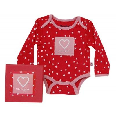 Life is Good Heart Baby Longsleeve Pajama | Aunt Dana
