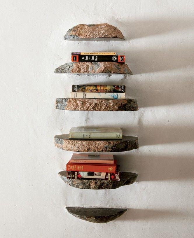 Shelves from coastal cave house of french designer alexandre de betak