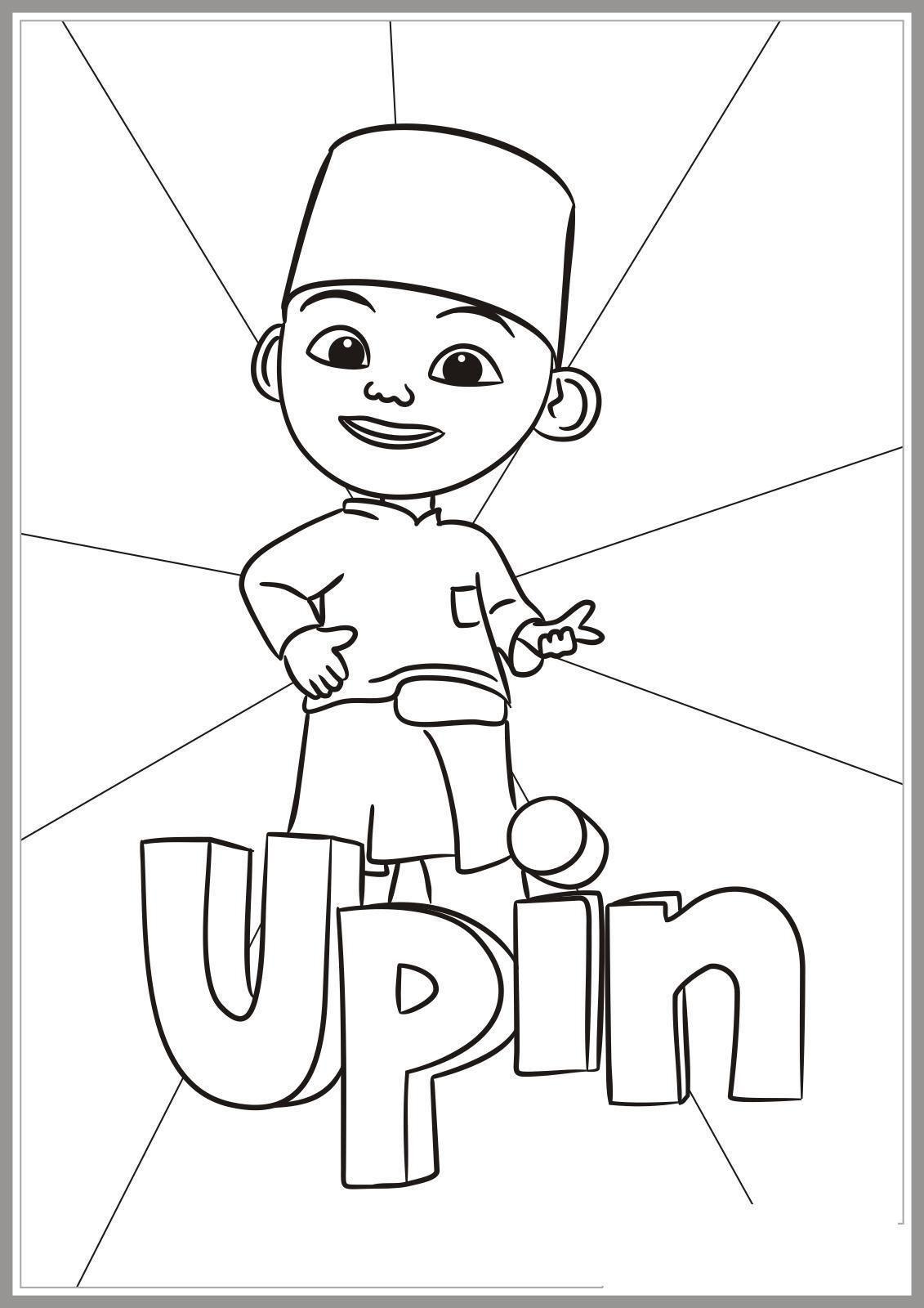 Mewarnai Upin Dan Ipin : mewarnai, Coloring, Pages,, Books,