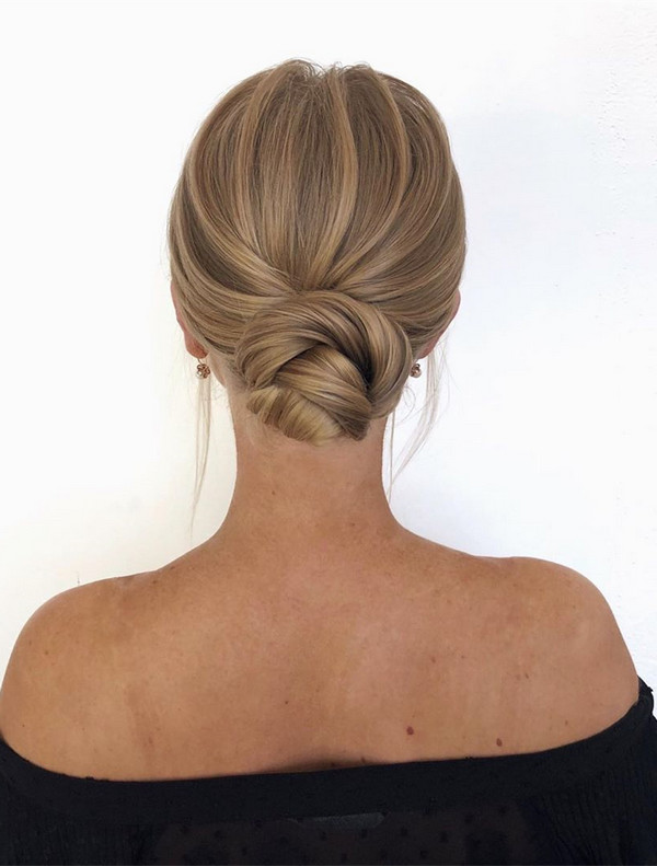 20 Classic Updo Wedding Hairstyles from Oksana on Instagram