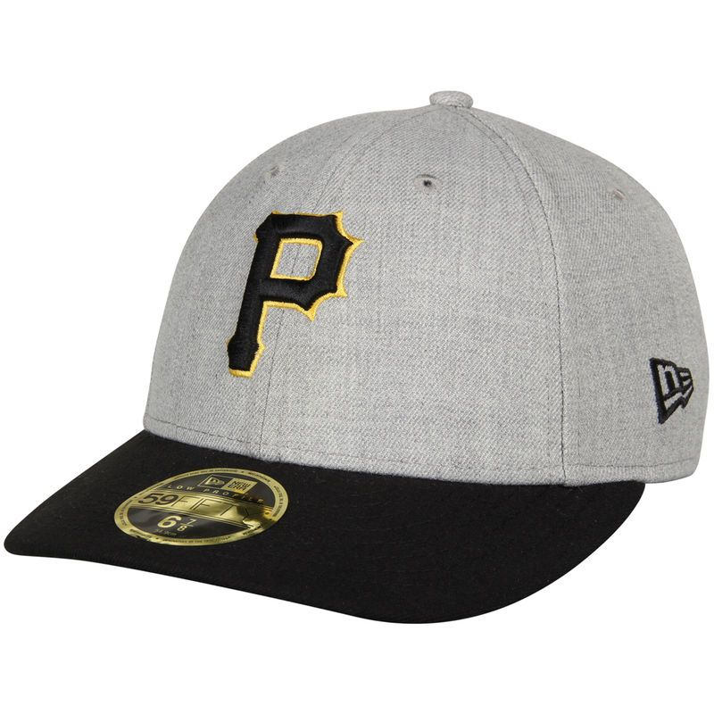 info for 79b66 b9fd9 Pittsburgh Pirates New Era Change Up Low Profile 59FIFTY Structured Hat -  Heathered Gray Black