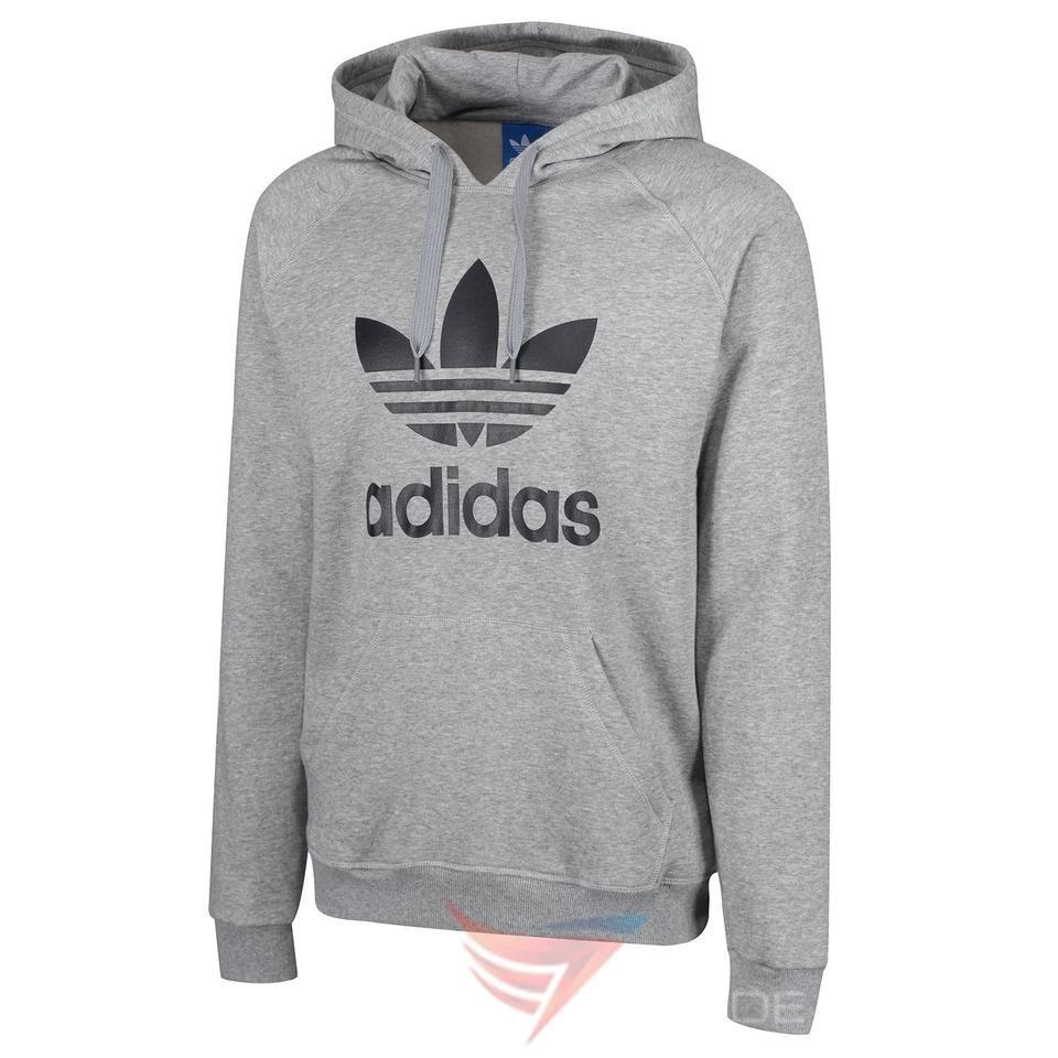 Dark Grey Adidas Trefoil Hoodie Sweatshirt Sweatshirts Sweatshirts Hoodie Adidas Trefoil Hoodie [ 1740 x 580 Pixel ]