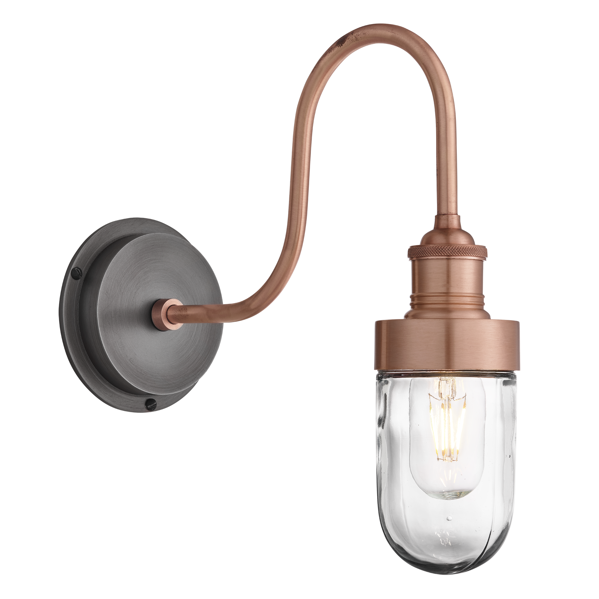 Stainless Steel Classic Retro Style Outdoor Wall Light Filament Style LED Lamp