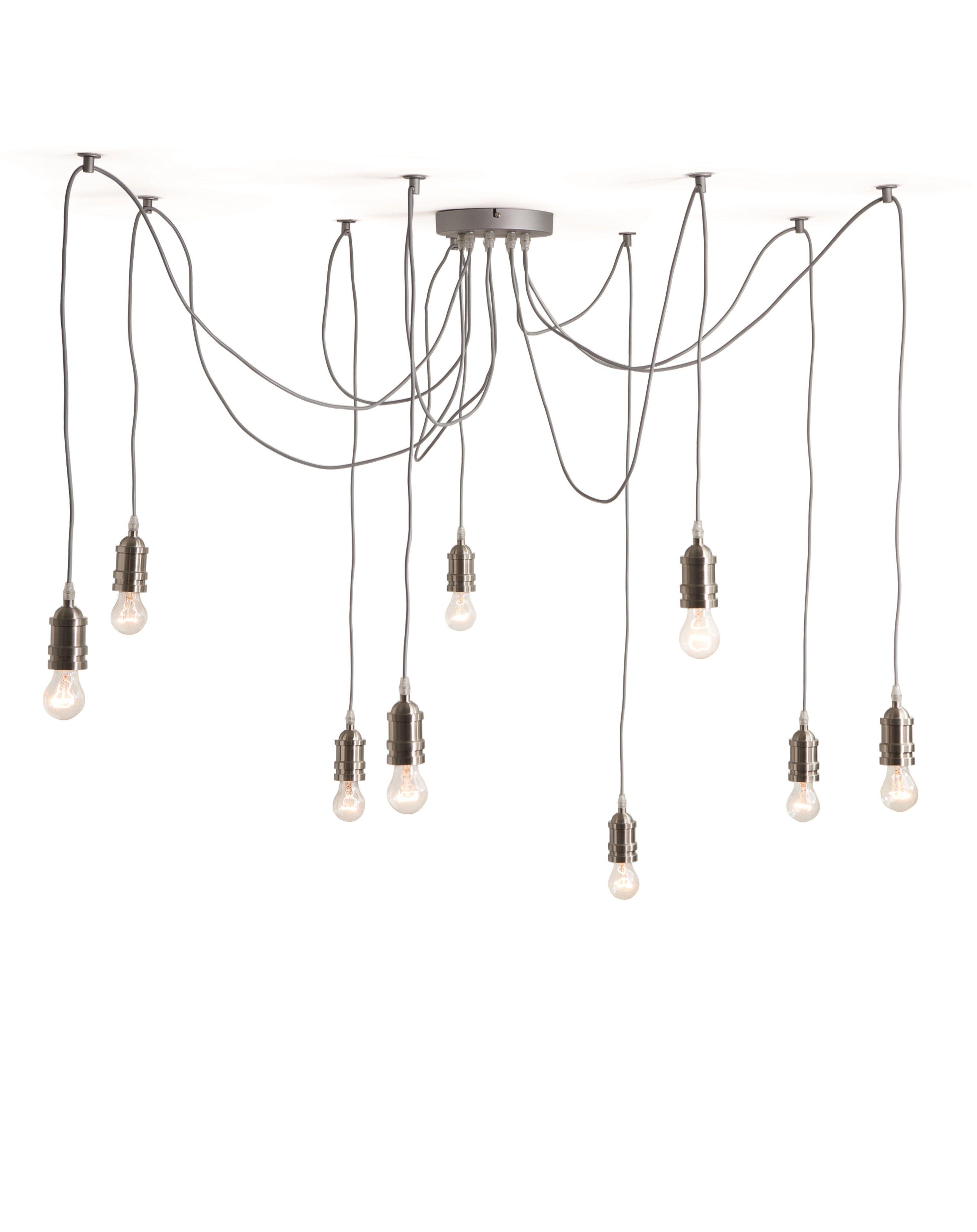 The Starkey Chandelier, in Nickel. Industrial lighting to show off ...