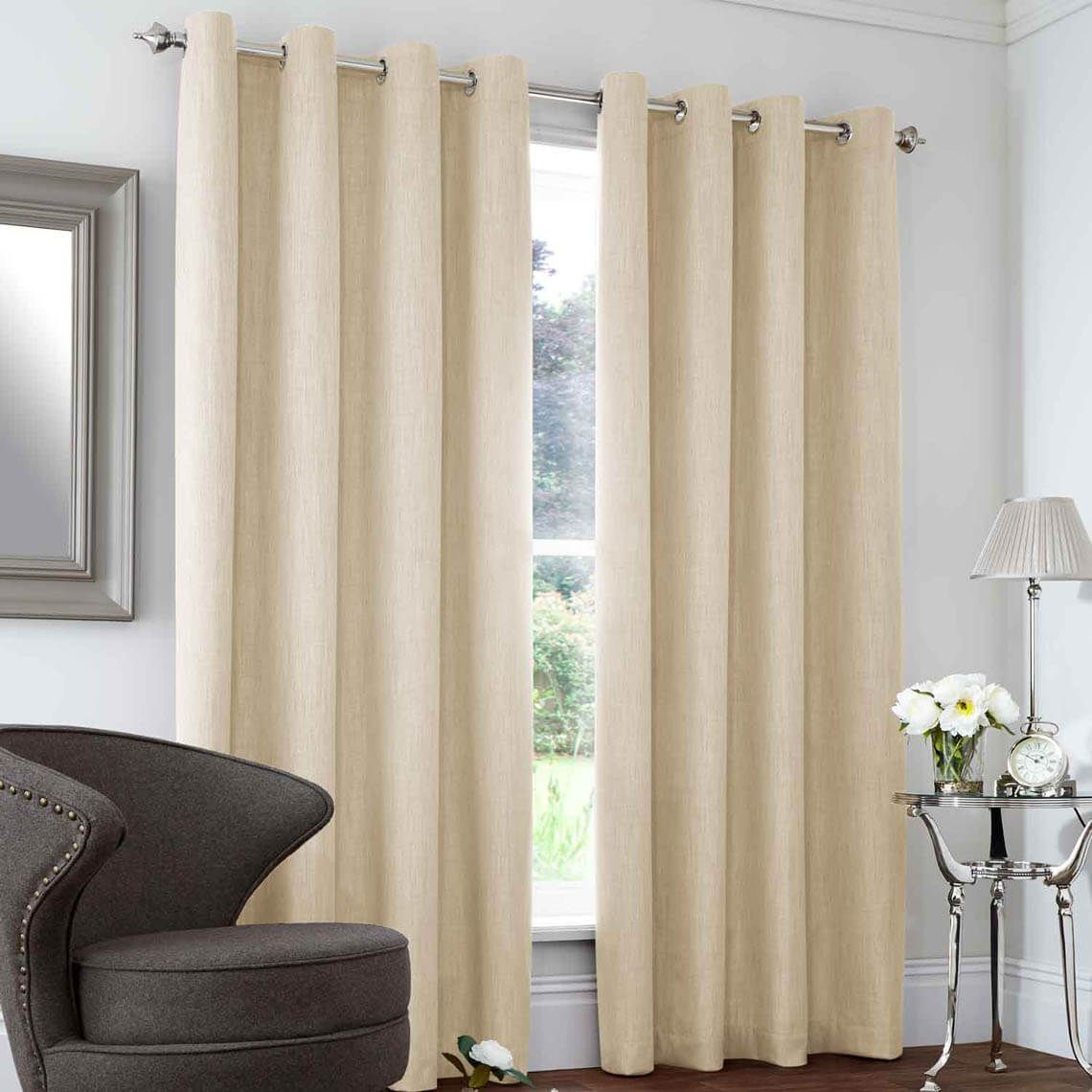 Blackout and Thermal Curtain Cream Thermal curtains