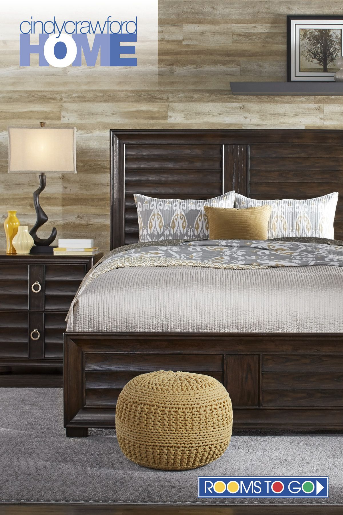 Cindy Crawford Home Michigan Avenue Brown 5 Pc Queen Panel Bedroom ...