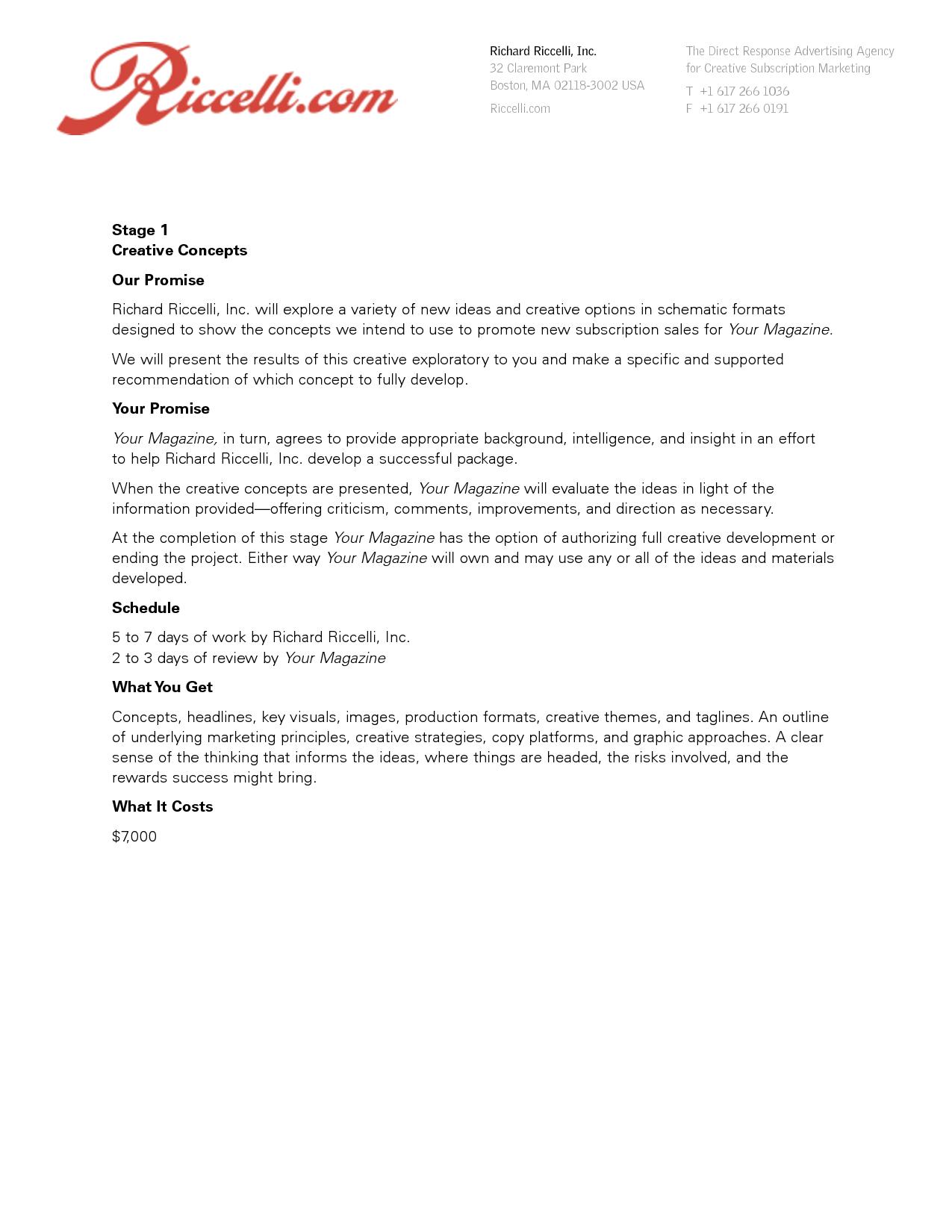 Proposal Letter  Advertising Proposals    Proposal