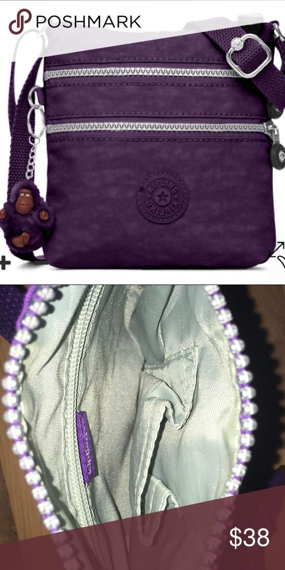 c954bfa74f Kipling Purple Purse Alvar Extra Small Mini Bag. Has 1 zipper inside and small  pouch