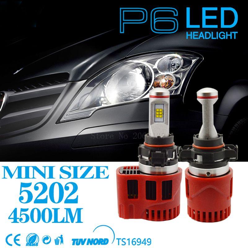 2pcs High Quality New Dc11v 30v 45w 9000lm Led Headlight 5202