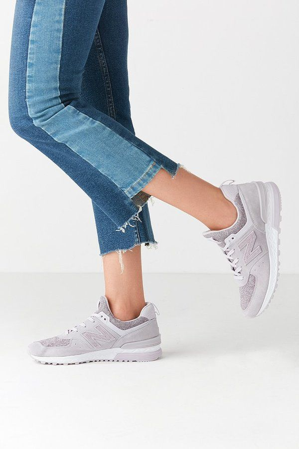 new balance 574 sport heathered sneaker
