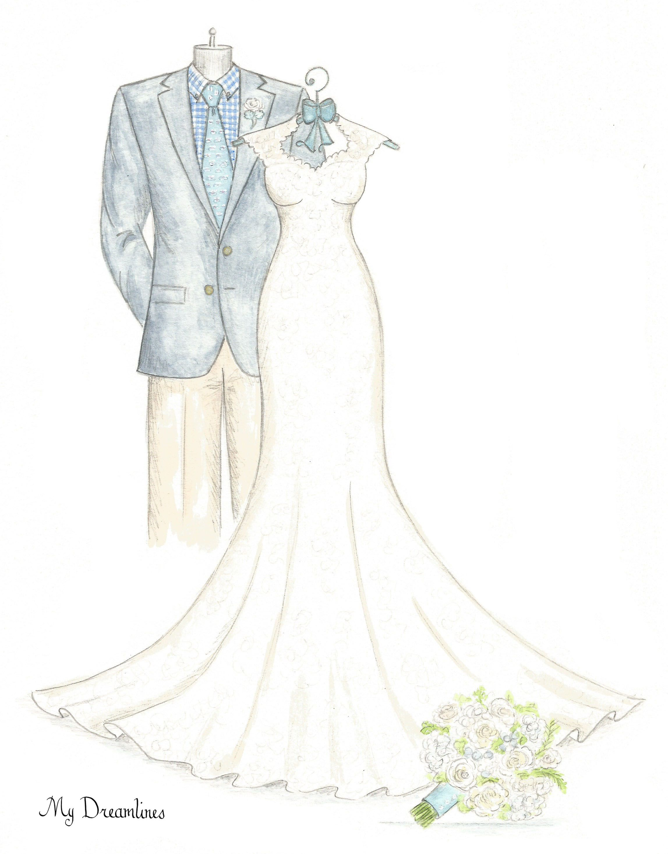 Wedding dress sketch gallery in art pinterest wedding