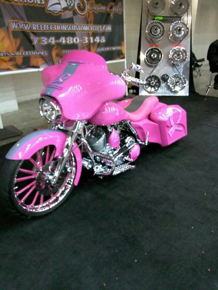 Pink Motorcycle If I Had This Then Yes I Would Ride