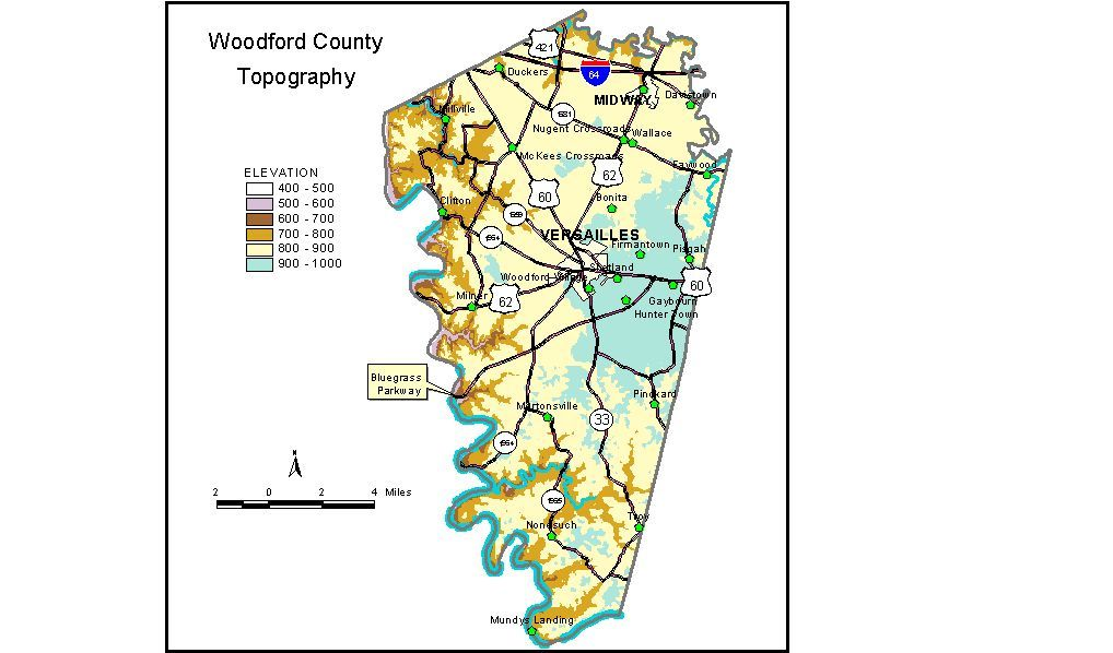 Groundwater resources of woodford county kentucky