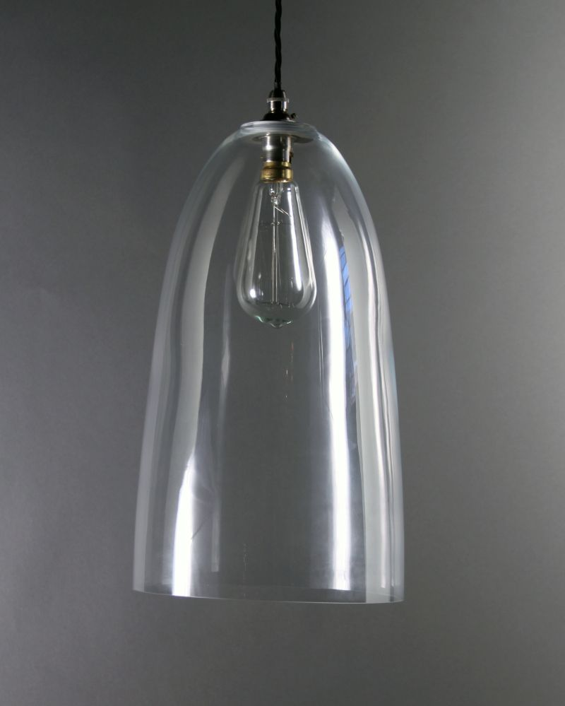 Upton clear glass pendant light clear glass pendant light glass our extra large upton clear glass pendant light looks super with a squirrel cage light bulb mozeypictures Gallery