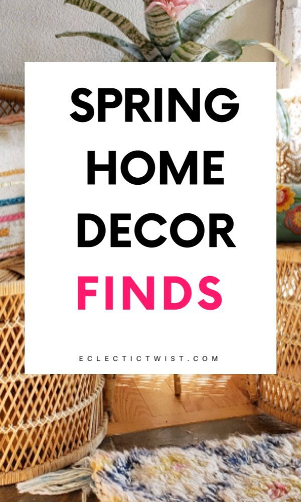 Spring home decor finds that you need. Home decor on a budget for spring. #springhomedecor #homedecorideas #decoratingideas #homedecortips