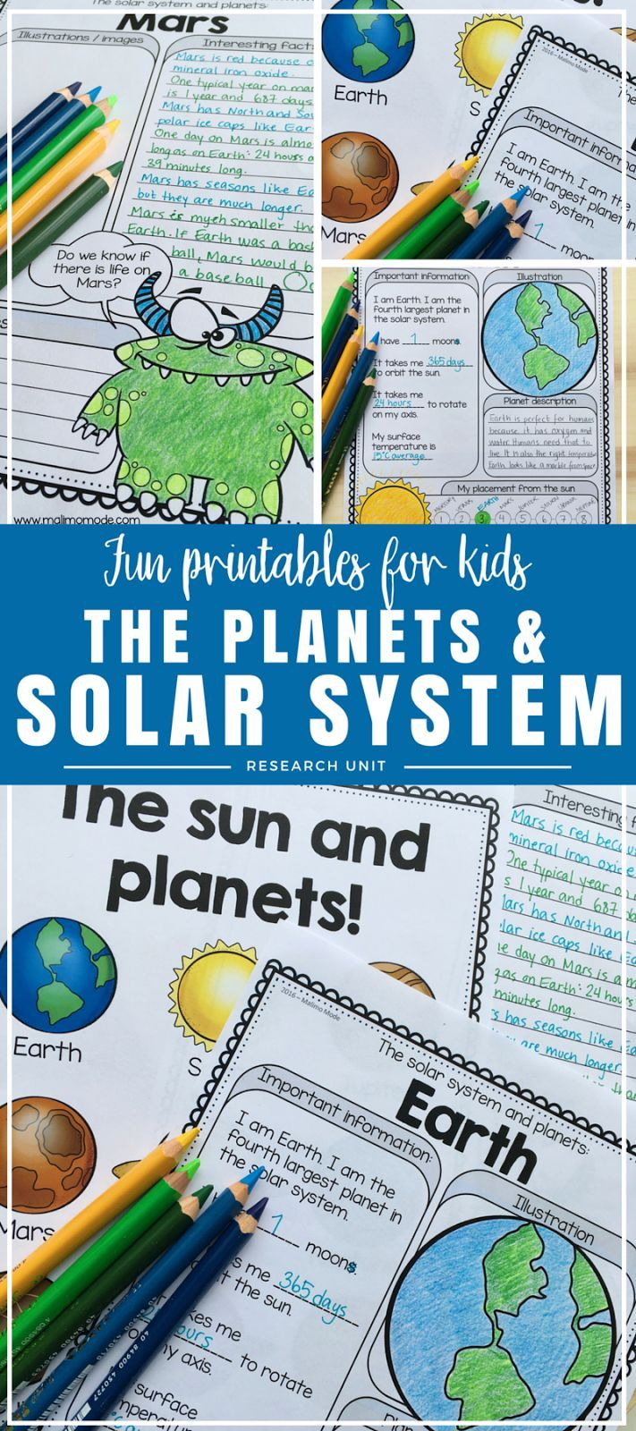 Planets - Solar System Research Unit | Science curriculum, Solar ...