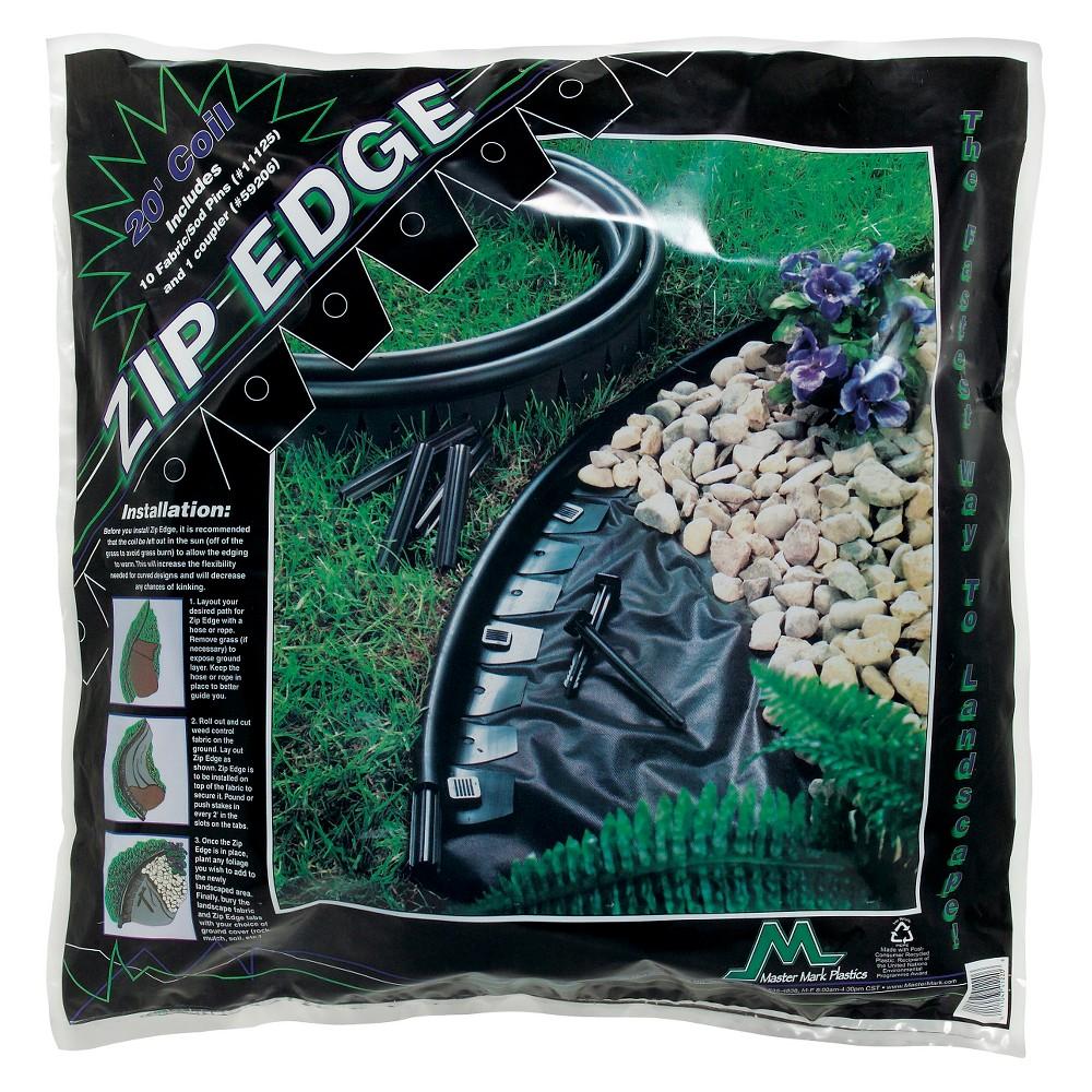 Zipedge Lawn And Garden Edging 20 With 10 6 Sod Pins Black Master Mark Plastics Garden Edging Lawn Edging Lawn And Garden