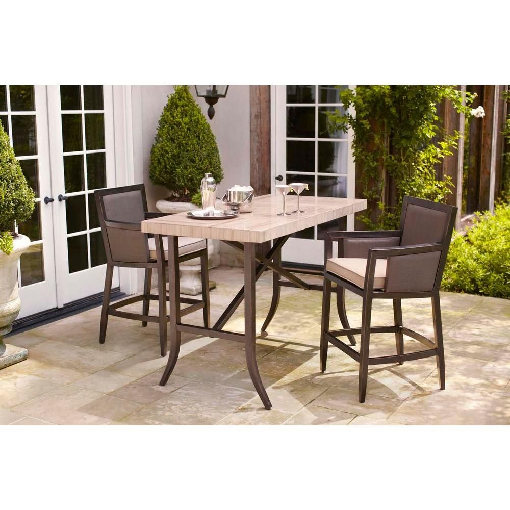 52a8cf713e6 Brown Jordan Greystone Patio High Dining Chair in Sparrow (2-Pack) --  STOCK-DYT005-DB - The Home Depot