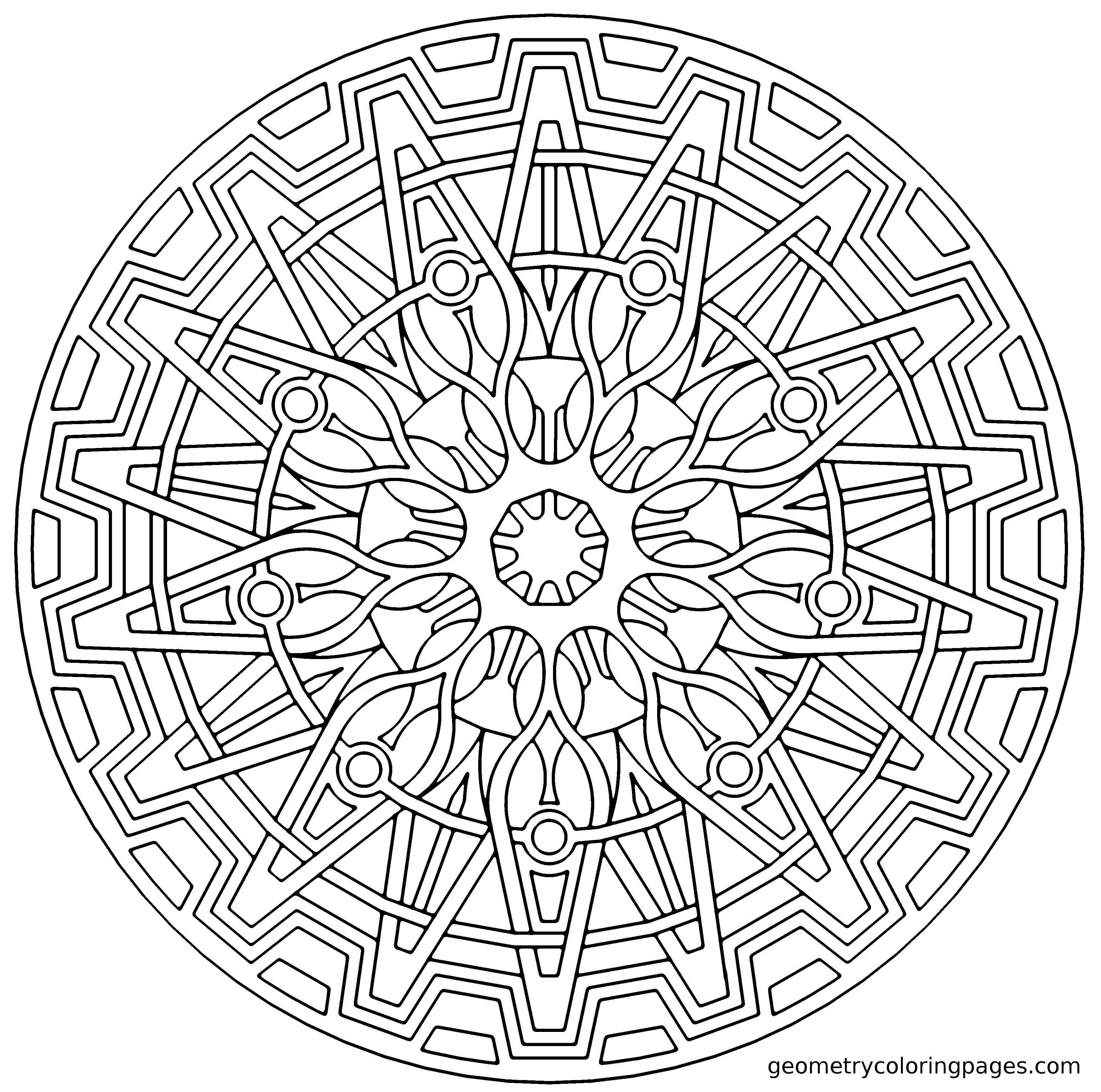Tons Of Amazing Geometry Coloring Pages Free For Middle