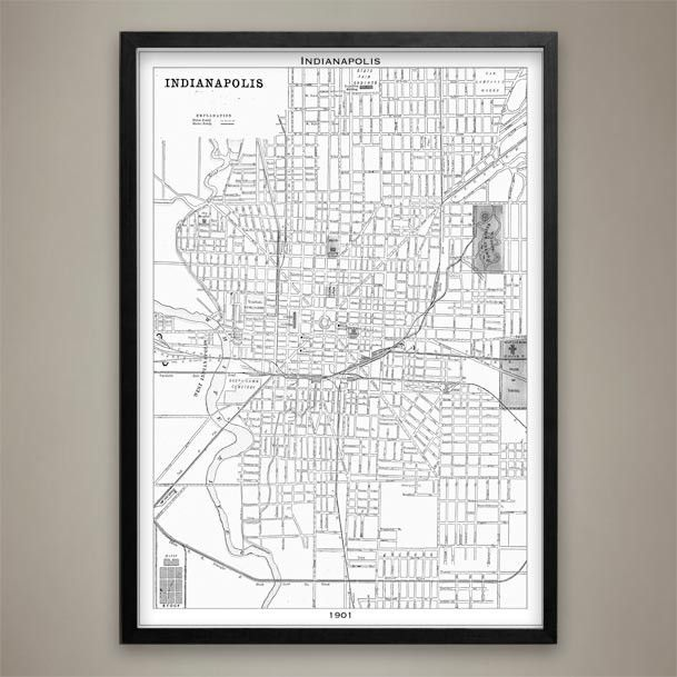 Map Print Indianapolis