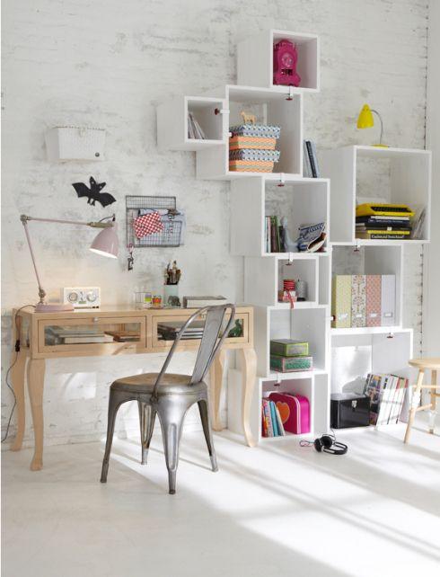 white bright home office workspace | I n t e r i o r s | Pinterest ...