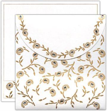 K-49, Cream Color, Card with Rhinestones