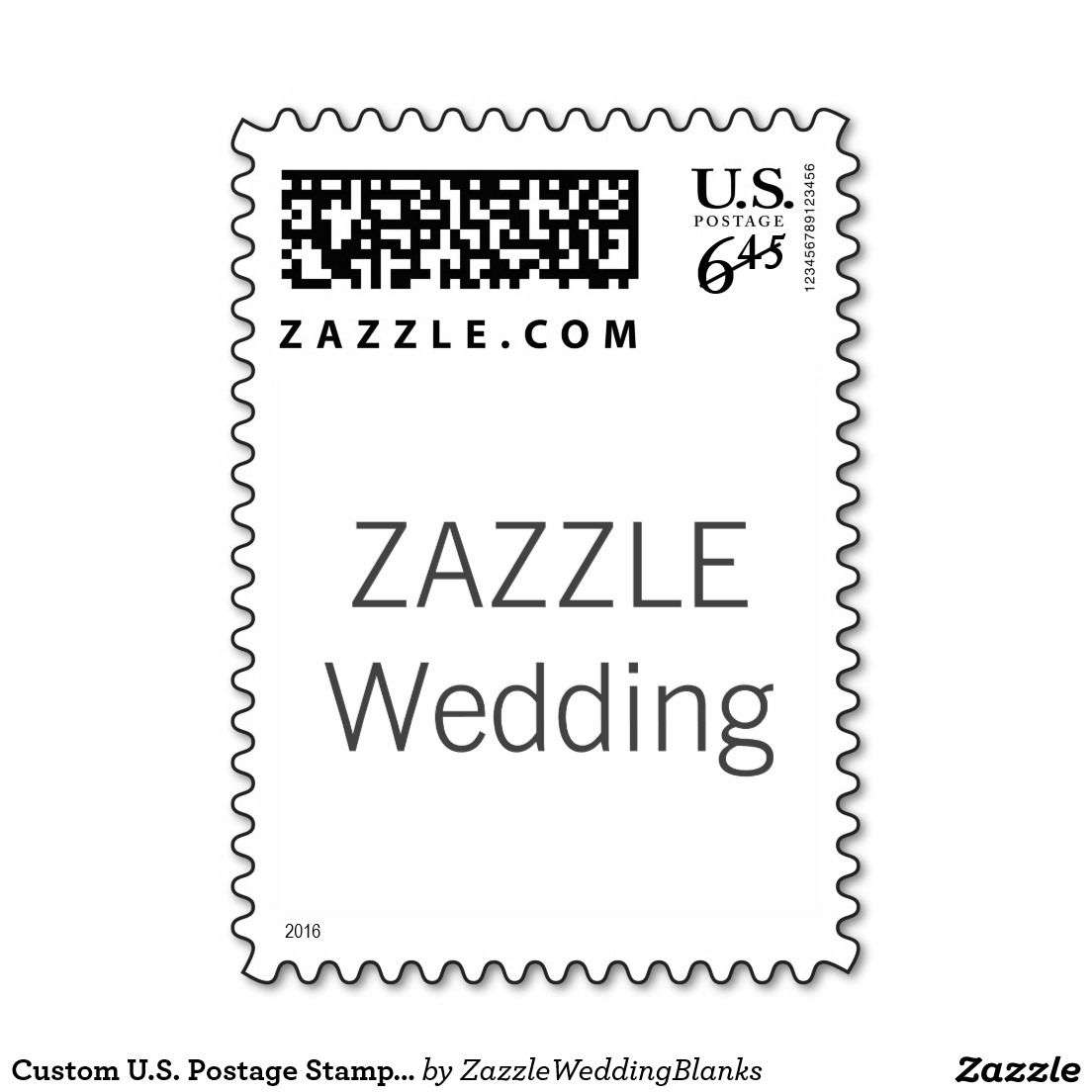 Custom us postage stamp 1st class priority