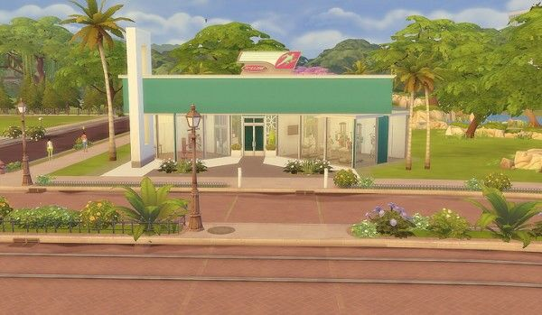 Via Sims: Newcrest Fitness • Sims 4 Downloads