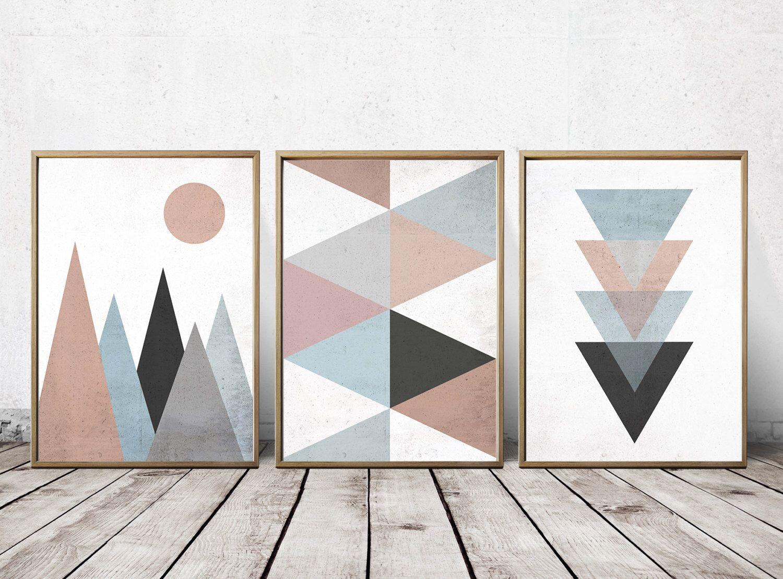 Wall Art Prints   Abstract Art Prints   Geometric Decor  Abstract Wall Art    Abstract Art Print   Nordic Art   Triangle Art