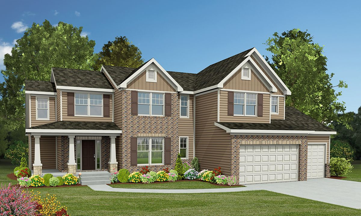 The Kingston, a gorgeous 1.5 story home design at Chapelwood, Rolwes